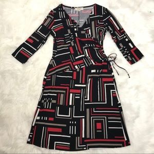 Kasper career rouched 3/4 Slv dress Sz 10